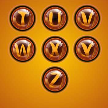 Letters of latin alphabet in round buttons - vector gratuit #131891