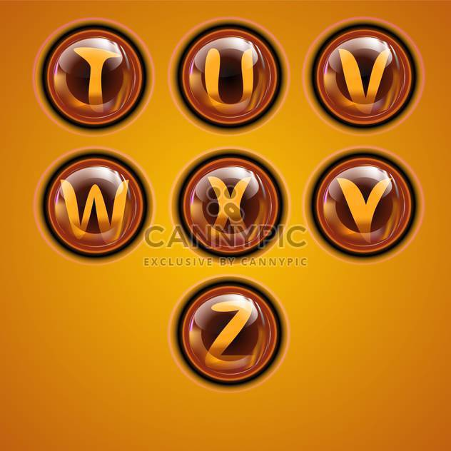 Letters of latin alphabet in round buttons - Free vector #131891