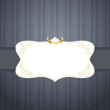 Vector vintage royal frame on grey background - vector #131911 gratis