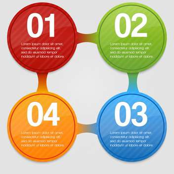 Four steps process - design element vector illustration - бесплатный vector #131921