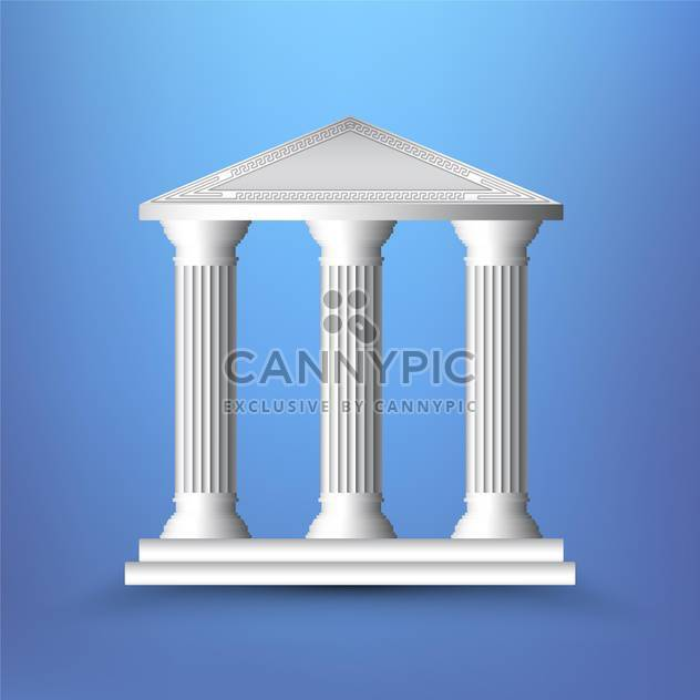 vector illustration of ancient columns on blue background - Free vector #131941
