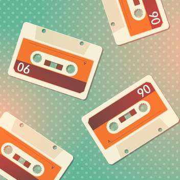 Vector grunge cassettes seamless background - vector gratuit #131951