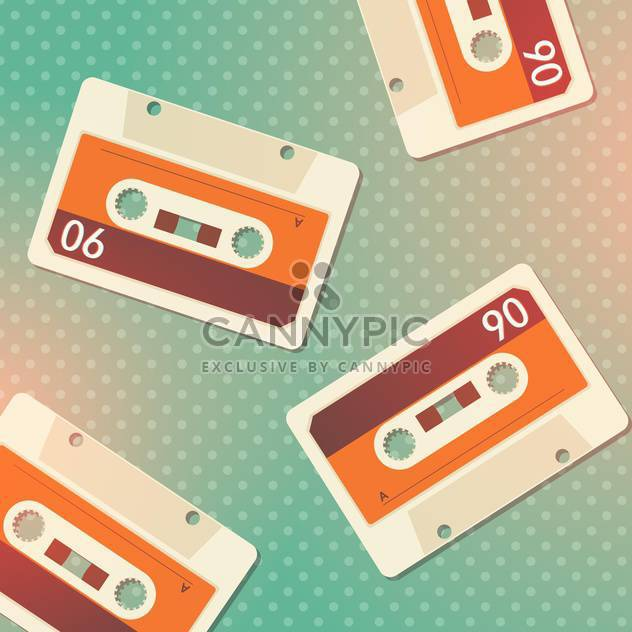 Vector grunge cassettes seamless background - Free vector #131951