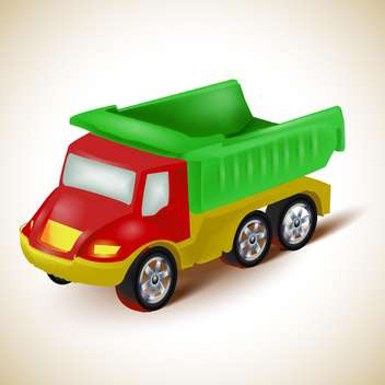 Colorful dump truck toy vector illustration - Kostenloses vector #131961