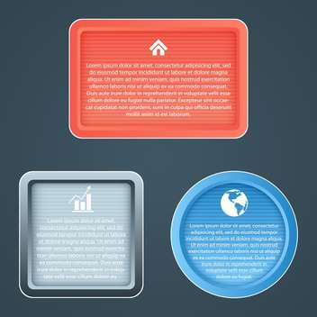Different vector icons for web design and computer concept - vector gratuit #131981