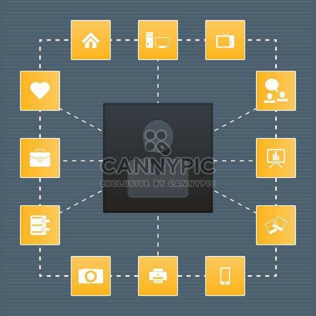 Set of icons on a theme communication vector illustration - Free vector #131991