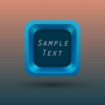 Vector illustration of square button with space for text - vector #132021 gratis