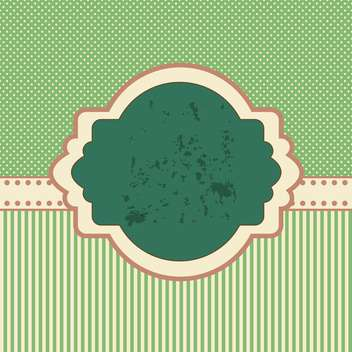 Vintage vector frame with copy space on green background - vector gratuit #132081
