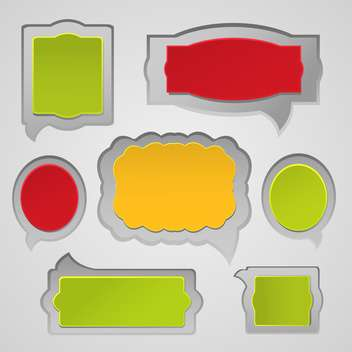 Vector set of speech and thought blobs - Free vector #132111