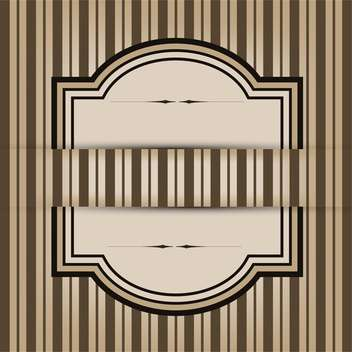 Vintage frame with seamless pattern background - vector gratuit #132121