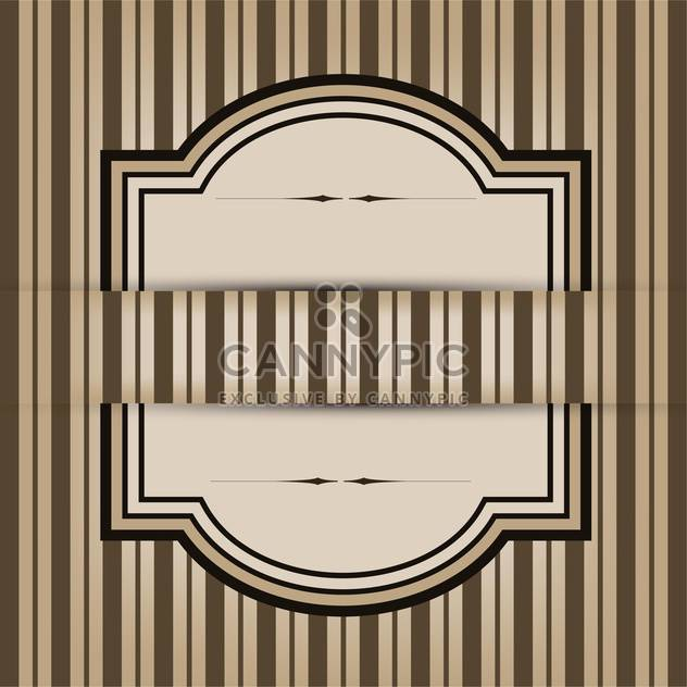 Vintage frame with seamless pattern background - Free vector #132121