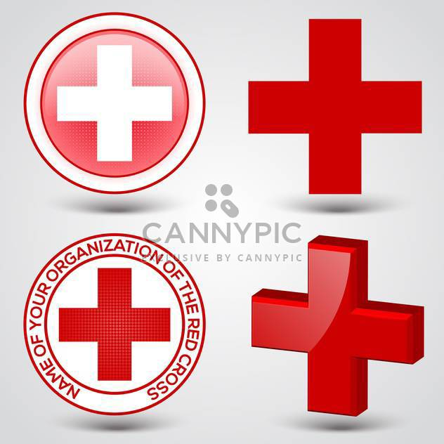 First aid medical button signs on gray background - Kostenloses vector #132171