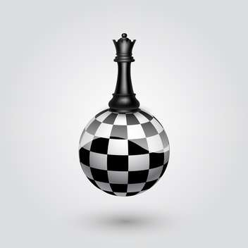 Chess black queen, vector illustration - vector gratuit #132221