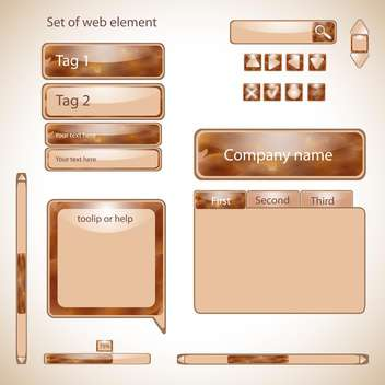Vector set of web elements,vector illustration - vector #132291 gratis
