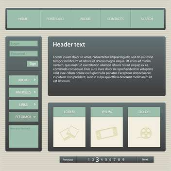 Web site design template, vector illustration - vector gratuit #132321