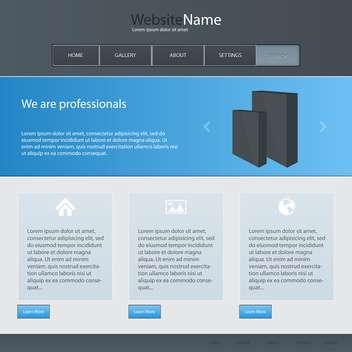 Web site design template, vector illustration - бесплатный vector #132331