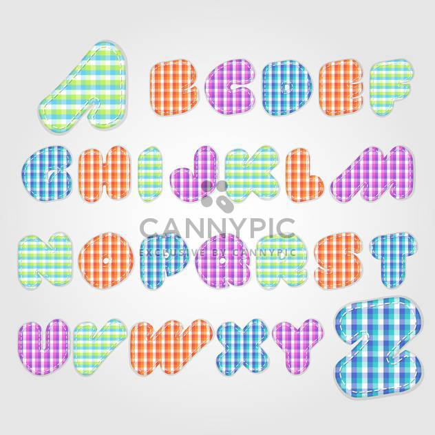 old fashioned colorful alphabet,vector illustration - Free vector #132351