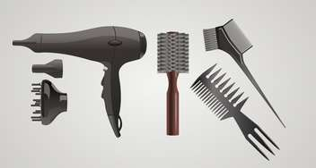 Vector set of accessories for hair on gray background - vector #132411 gratis