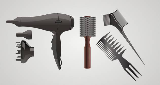Vector set of accessories for hair on gray background - Free vector #132411
