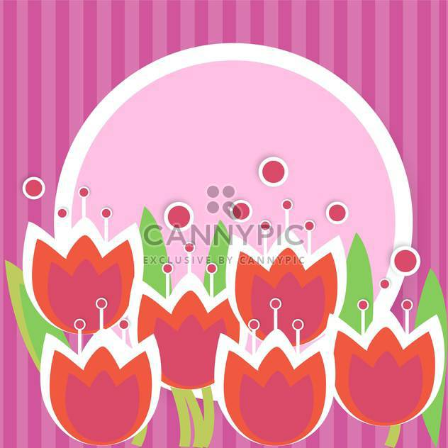 Vector floral frame on purple background - Free vector #132471