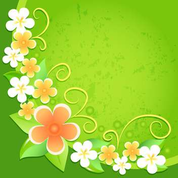 vector summer floral background - vector gratuit #132501