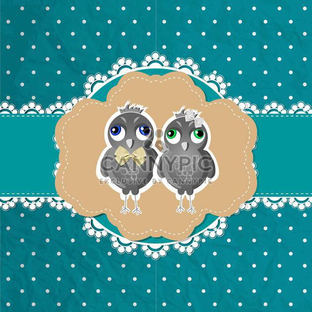 vector floral frame with birds - Free vector #132521