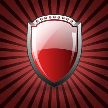 red glossy shield background - бесплатный vector #132531