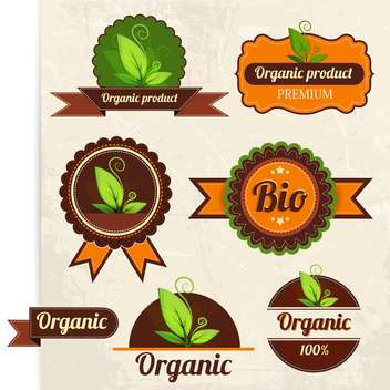 eco and bio labels collection design - vector gratuit #132591