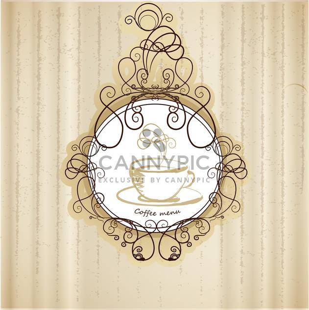 retro coffee menu background - Free vector #132651