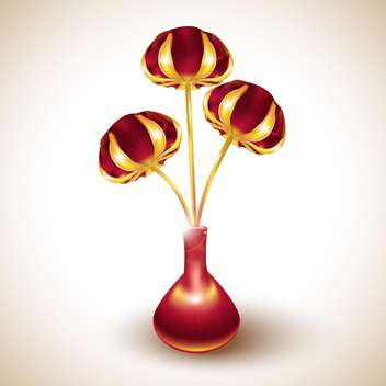 red and gold tulips vector illustration - vector gratuit #132661