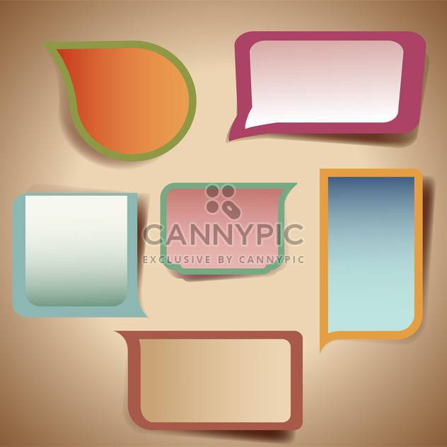 set of colorful speech bubbles - Free vector #132671