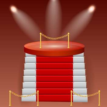 red stage podium background - vector gratuit #132761