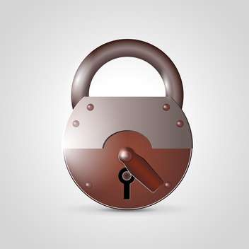 metal padlock vector icon - Free vector #132781