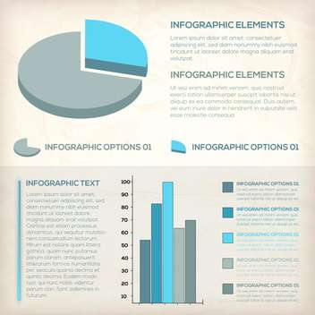 set elements of business infographics - Free vector #132871