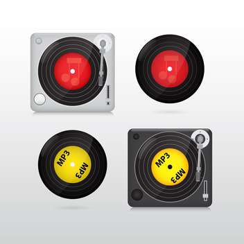 vector vinyl record set - vector gratuit #132921