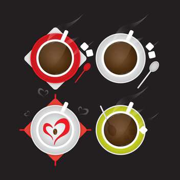 coffee cup elements for design - vector gratuit #132931