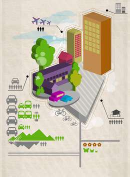 city social infographics set - Free vector #132951
