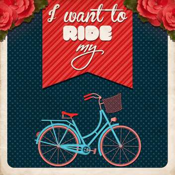 i want to ride my bike poster - vector gratuit #133001