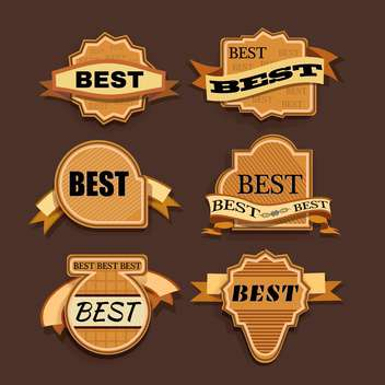 vector vintage labels set - vector #133071 gratis