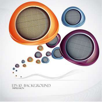 sound speakers vector background - vector gratuit #133081