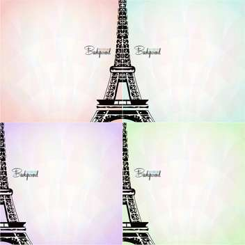 vector card with eiffel tower - vector #133101 gratis