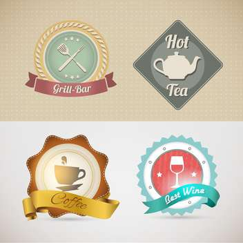 website template for cafe or restaurant - vector gratuit #133131