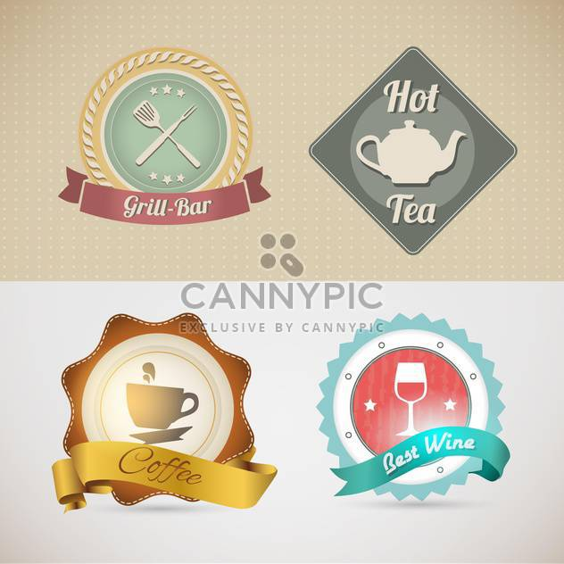 website template for cafe or restaurant - Free vector #133131