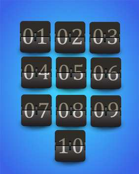set of figures on mechanical scoreboard - vector #133151 gratis