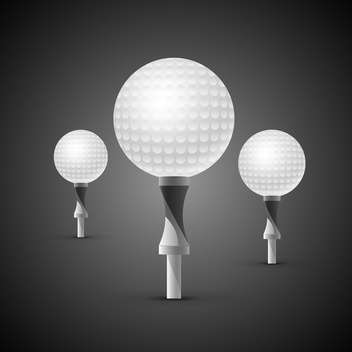 golf balls on tees illustration - бесплатный vector #133201