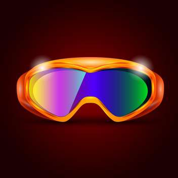 ski sport goggles illustration - vector #133211 gratis