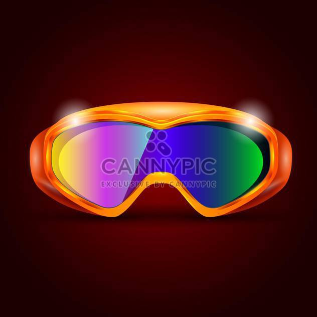 ski sport goggles illustration - Free vector #133211