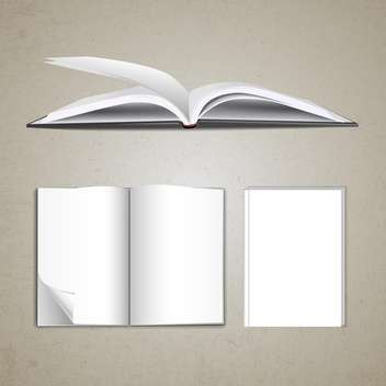 blank pages inside of notebook - vector gratuit #133231