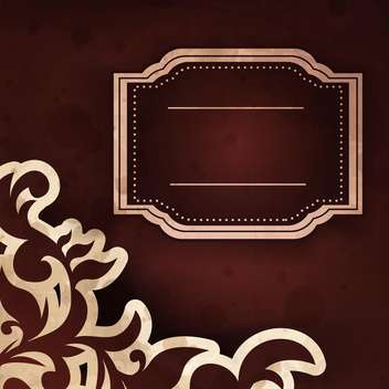 vintage vector frame background - vector #133251 gratis