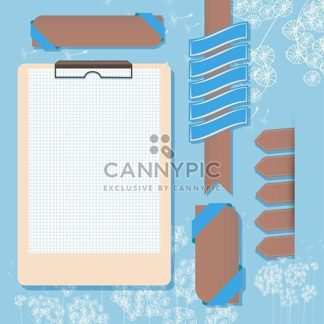 open new page of notebook - Free vector #133271